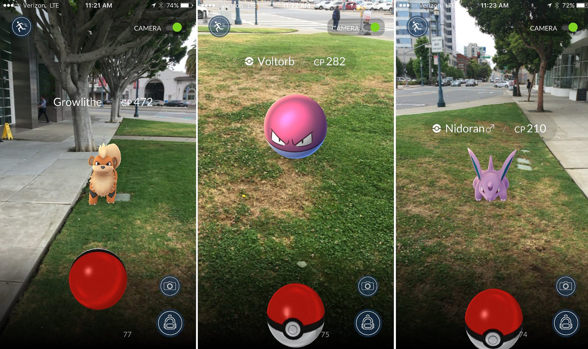 Augmented Reality in Pokémon GO