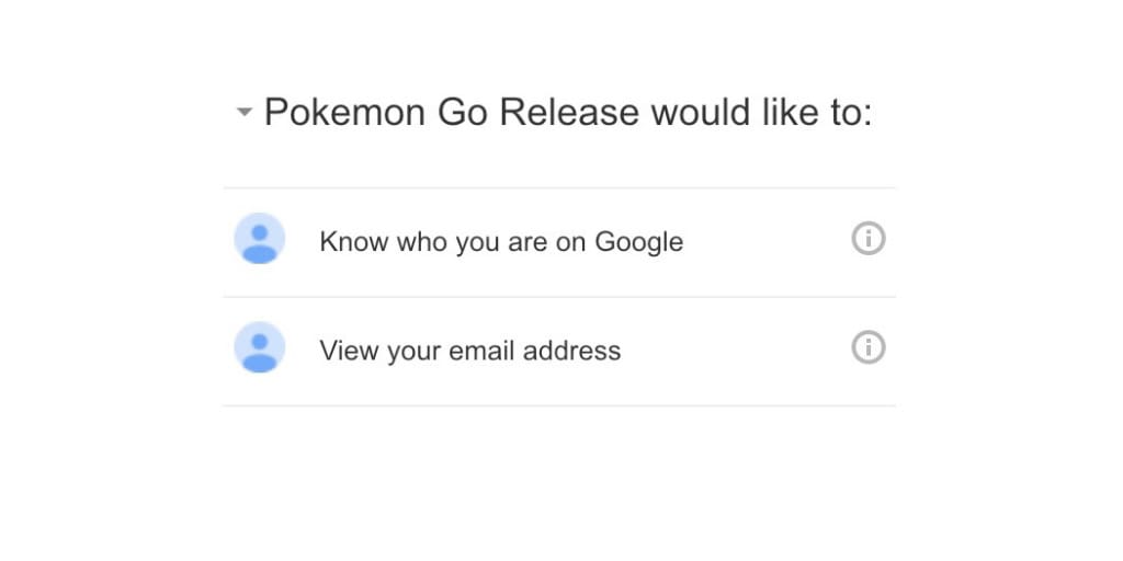 Pokémon GO has restricted access to Google account