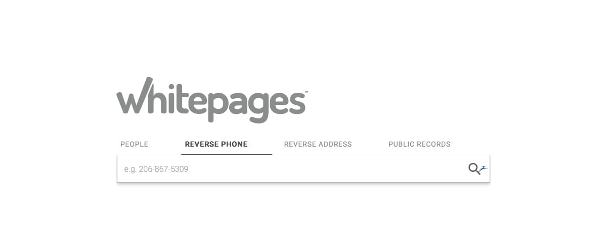 WhitePages - a common reverse phone number lookup website
